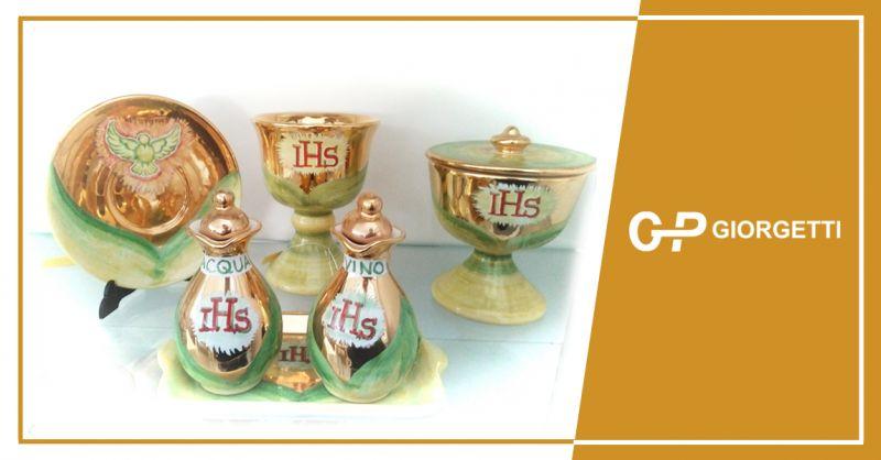 GP GIORGETTI offerta servizio da altare in ceramica - occasione servizi da altari ancona