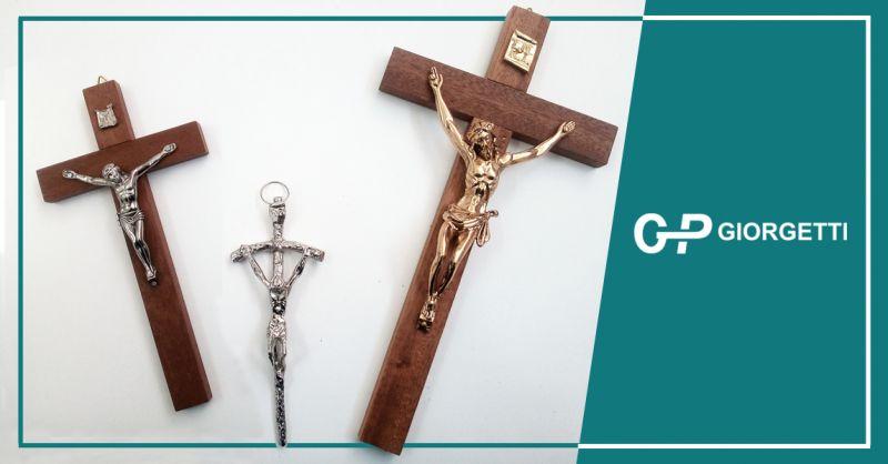 GP GIORGETTI offerta produzione crocifissi vari materiali - occasione crocifissi made in italy