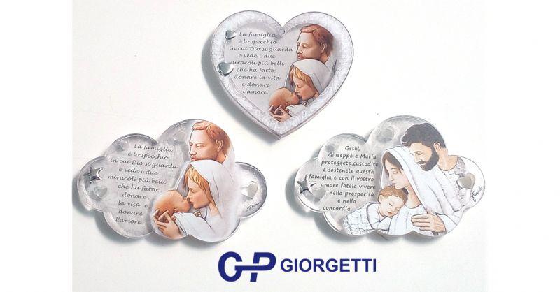 offerta quadretti religiosi regalo loreto-occasione quadretti con sacra famiglia argento loreto