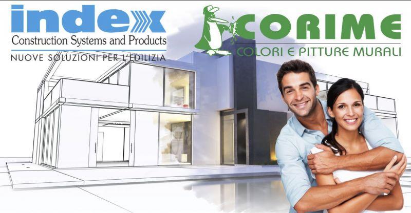 COLORIFICIO CORIME collaborazione INDEX - offerta soluzioni edilizia complete per la cura della tua casa