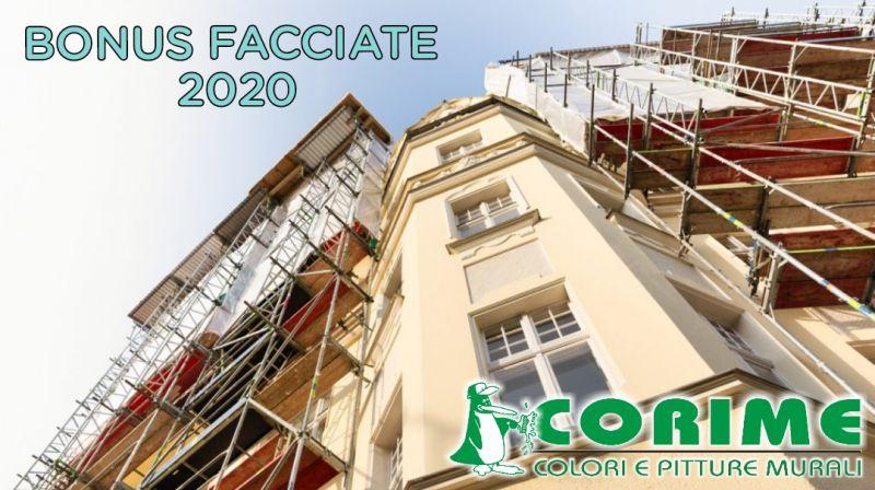 COLORIFICIO CORIME - offerta BONUS FACCIATE 2020 detrazioni fiscali per il restauro della facciata