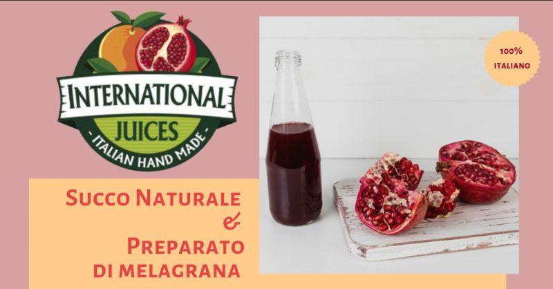 International Juices promozione lavorazione Melograno italia - occasione succo melograno italia