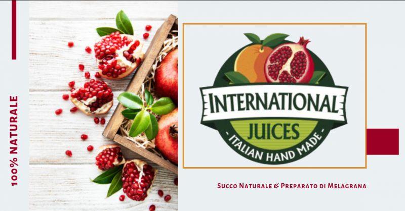 International Juice promozione Succo Naturale melagrana - offerta Preparato di melagrana
