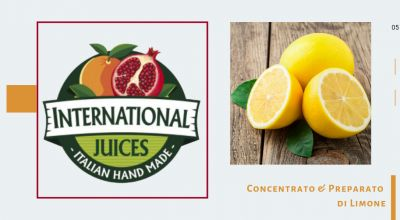 international juices promozione concentrato limone made in italy offerta preparato di limone
