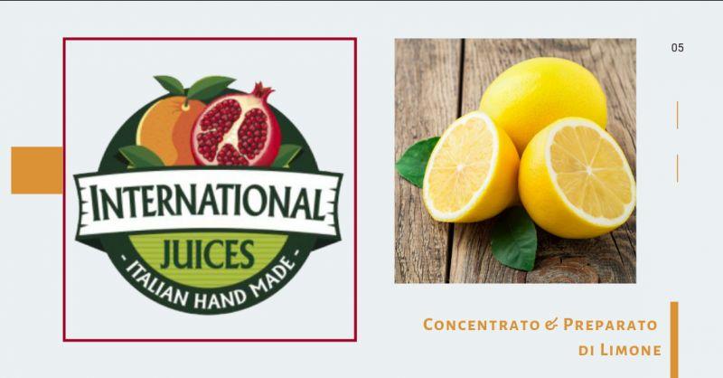 International Juices promozione Concentrato limone made in italy - offerta Preparato di limone