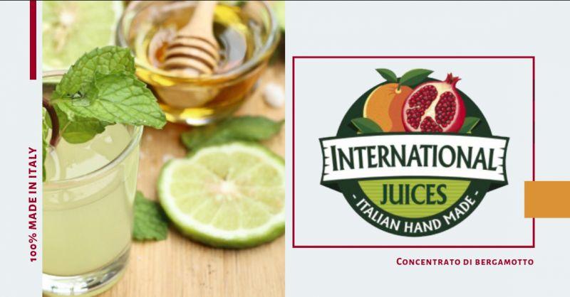 International Juices offerta Concentrato bergamotto calabrese - promozione succo bergamotto
