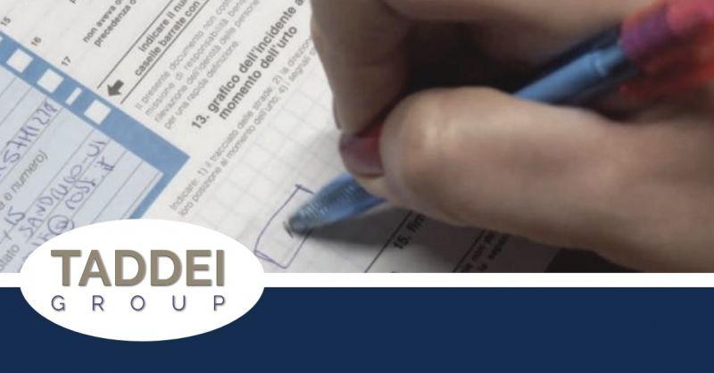 Taddei Group Srl offerta servizio compilazione Cid - occasione servizio gestione del sinistro