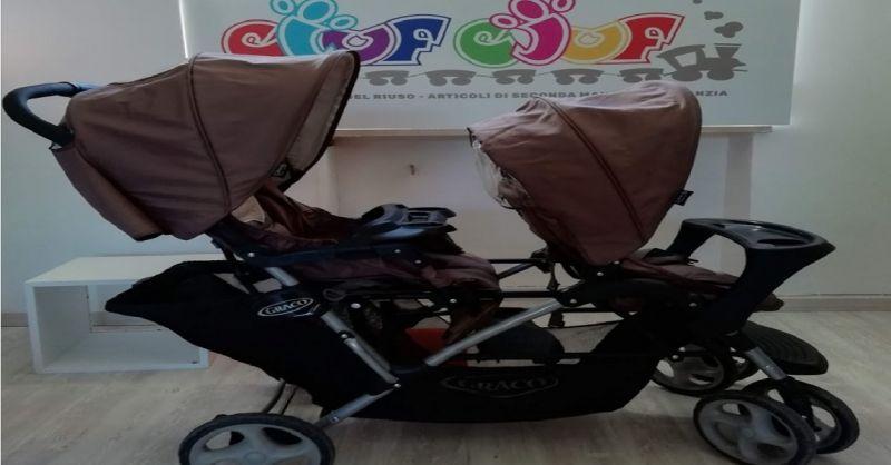 offerta passeggino gemellare usato Verona - occasione carrozzina per gemelli usata a Verona