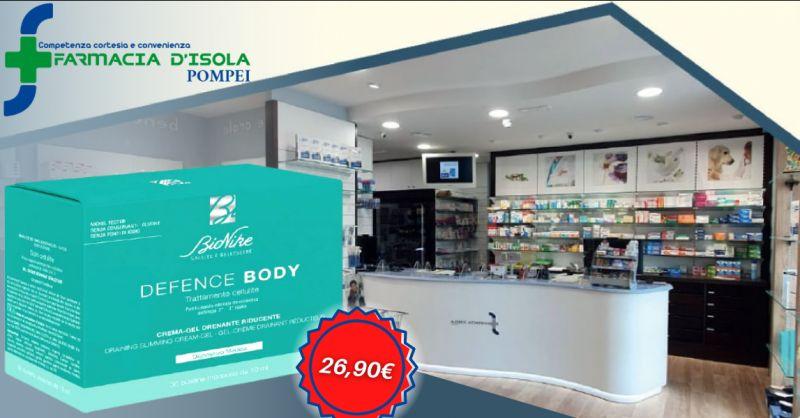 Offerta crema gel anticellulite bionike Napoli - occasione defence body anticellulite Pompei