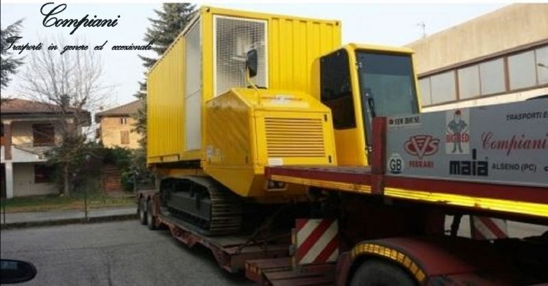 offerta COMPIANI trasporti stradali di macchinari Piacenza - occasione rimorchi trasporto merci