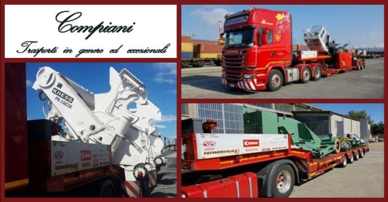 offerta servizio internazionale trasporti stradali di macchinari