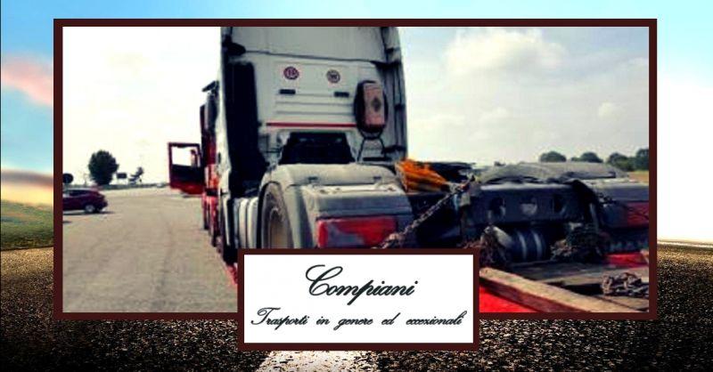 offerta servizio trasporti conto terzi per l'Italia e l'estero