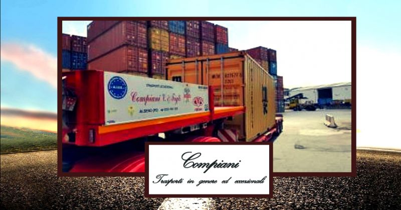 offerta trasporto container su strada - occasione trasporti stradali di container