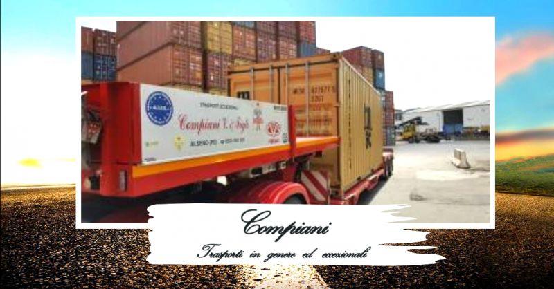 offerta servizio trasporti container su strada - occasione trasporti stradali container Italia