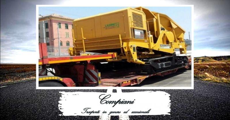 offerta servizio di autotrasporti stradali di macchinari