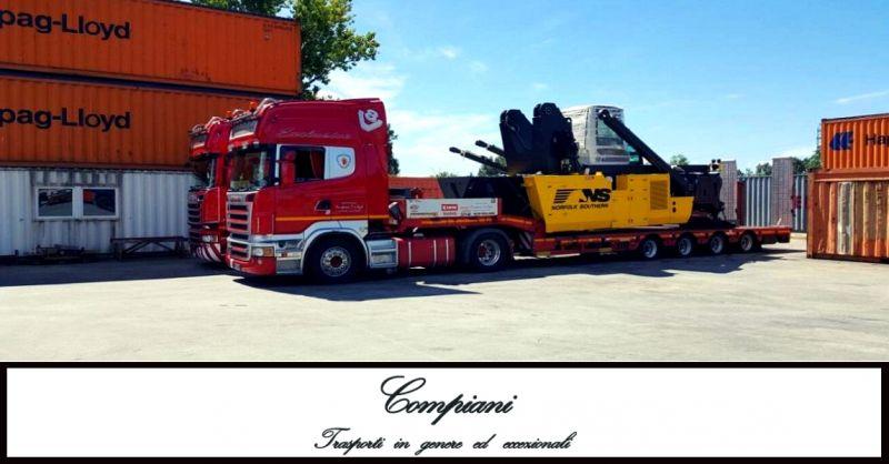 offerta trasporti stradali eccezionali - occasionale servizio di trasporto mezzi