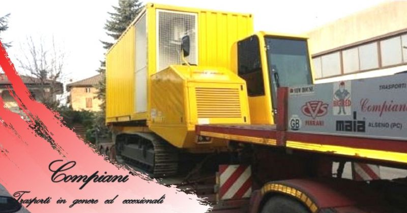 Offerta servizio di trasporto stradale nazionale di macchinari