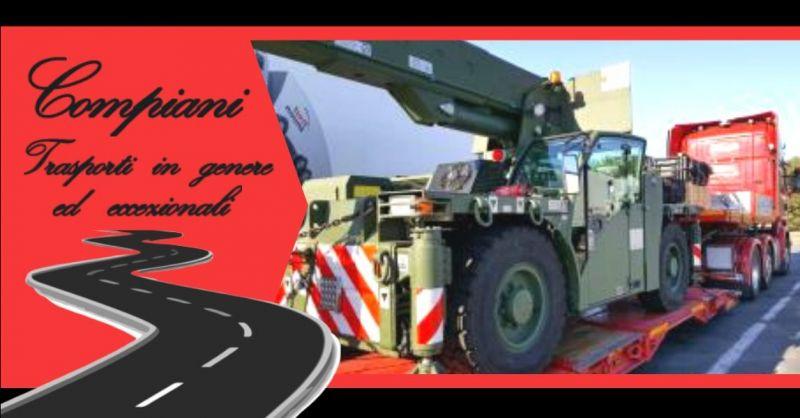 Promozione azienda leader nel trasporto di macchinari Italia ed Estero