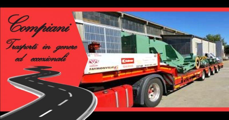 Promozione azienda specializzata in trasporti con rimorchi ribassati Italia