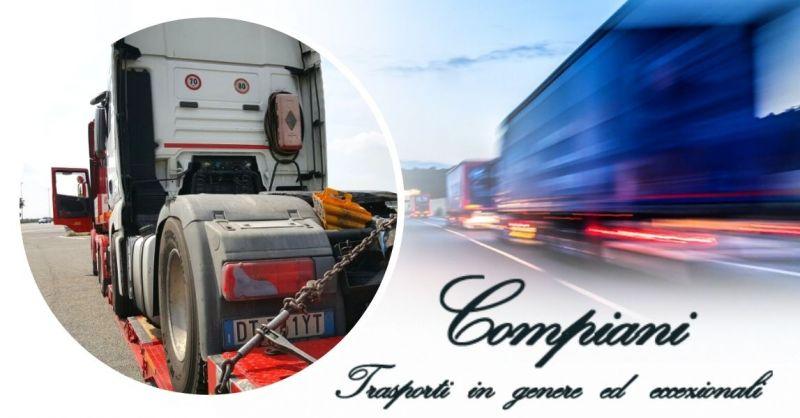 Offerta azienda specializzata nei trasporti stradali eccezionali in Italia e all'estero