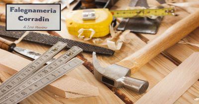 falegnameria corradin offerta servizio realizzazione mobili in legno su misura vicenza