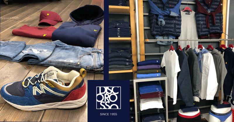 offerta negozio abbigliamento solo uomo Roma - occasione Disco rosso moda maschile Fiumicino