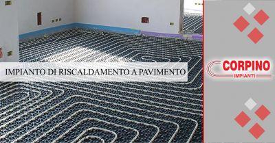 corpino offerta servizio installazione impianto di riscaldamento a pavimento