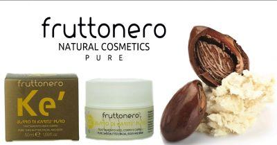 fruttonero offerta crema viso burro di karite puro occasione prodotti per pelli sensibili bio