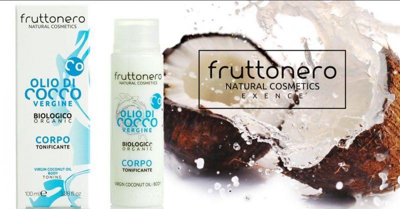 Fruttonero offerta Olio di Cocco vergine per corpo - occasione olio corpo tonificante bio