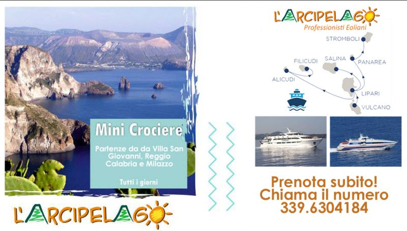 Offerta minicrociera isole eolie - offerta crociera giornaliera eolie - offerta tour eolie