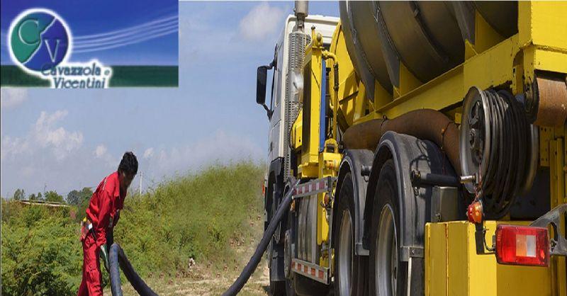 CAVAZZOLA E VICENTINI offerta intervento autospurgo - occasione trasporto fanghi di depurazione