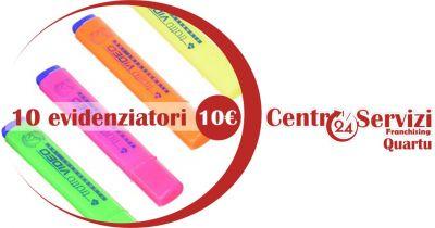 centro servizi 24 quartu offerta evidenziatori tratto video in diverse colorazioni