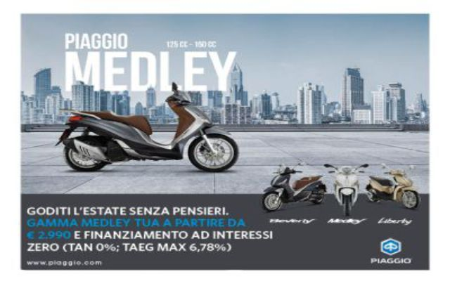 Offerta Piaggio Gamma Medley a Ventimiglia - Promozione Quattrone Motori Ventimiglia