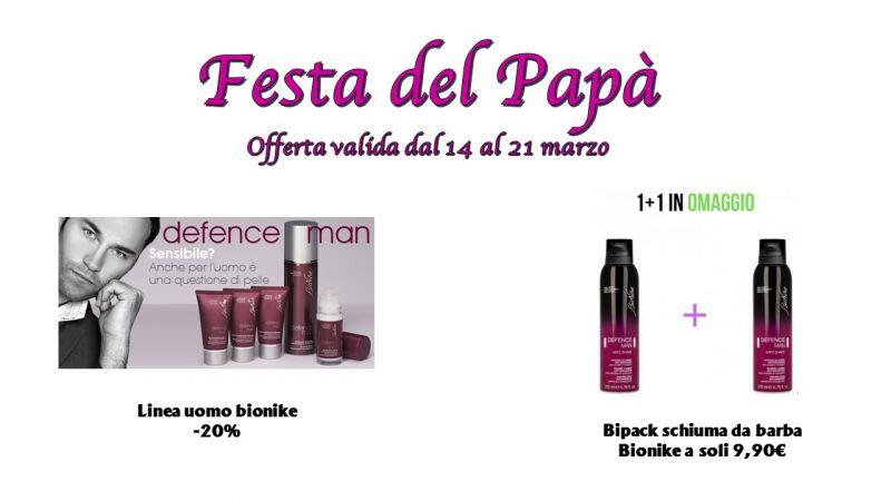 FARMACIA SCACCIAPENSIER festa del papà (dal 14 al 21 marzo) linea defence man al 20% di sconto