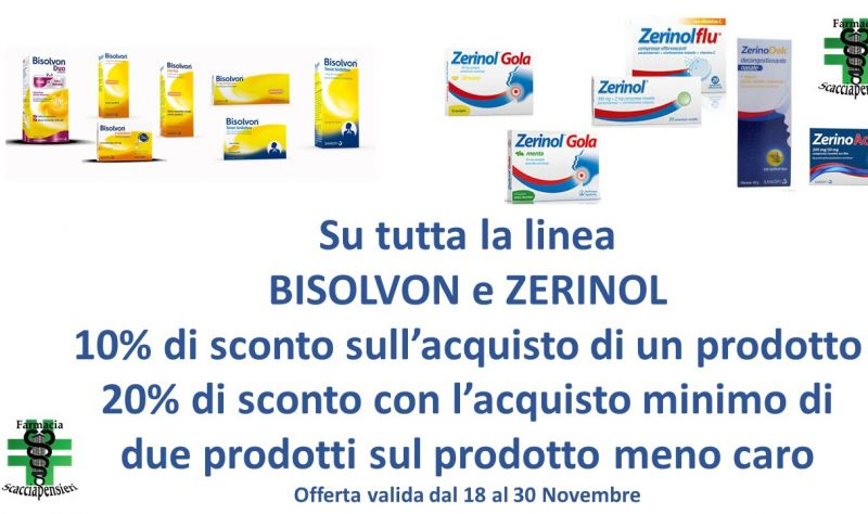 Offerta Linea Bisolvon Nettuno - Promozione Zerinol Latina