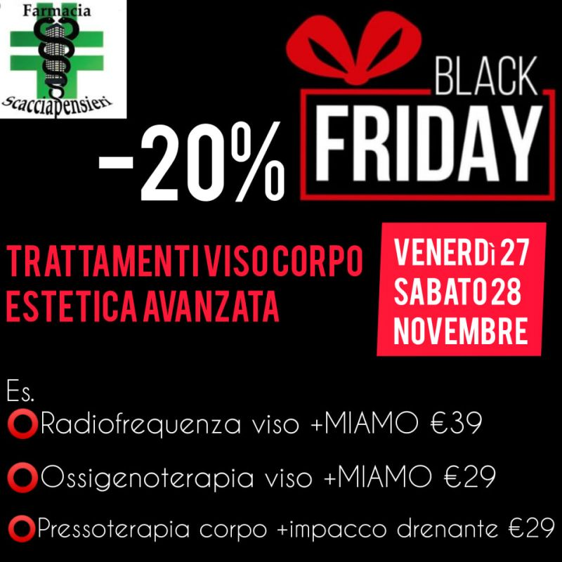 Black Friday in cabina estetica Scacciapensieri