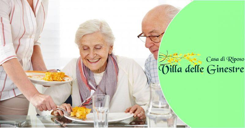 CASA DI RIPOSO VILLA DELLE GINESTRE -  offerta pasti sani e bilanciati per anziani e malati