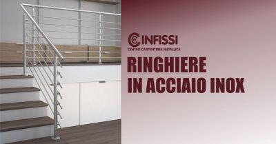 centro carpenteria metallica narbolia offerta ringhiere interne esterne acciaio inox misura