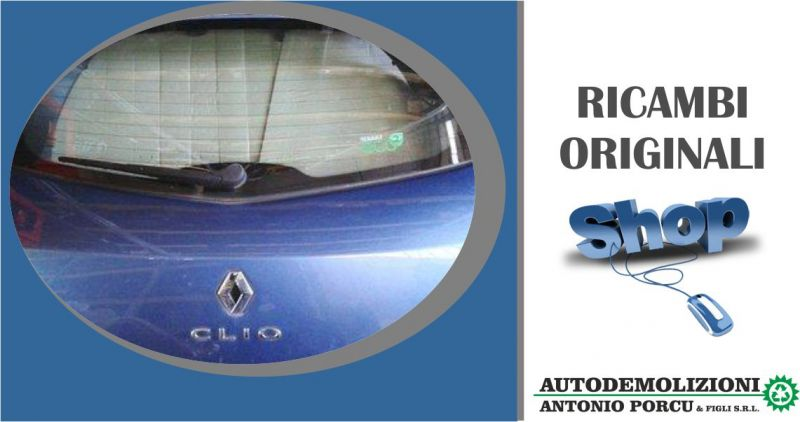 AUTODEMOLIZIONI PORCU - offerta portellone posteriore usato originale Renault Clio 3A 5 porte