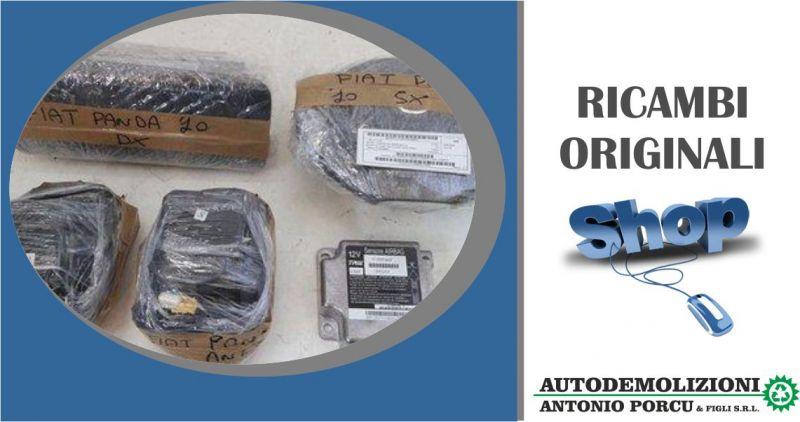 AUTODEMOLIZIONI PORCU - offerta kit air bag passeggero e lato guida usato originale Fiat Panda