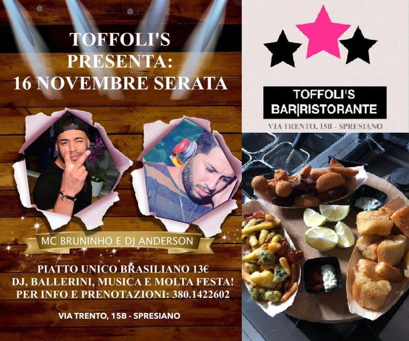 Toffoli's bar ristorante offerta mangiare Brasiliano Spresiano - Occasione festa Brasiliana