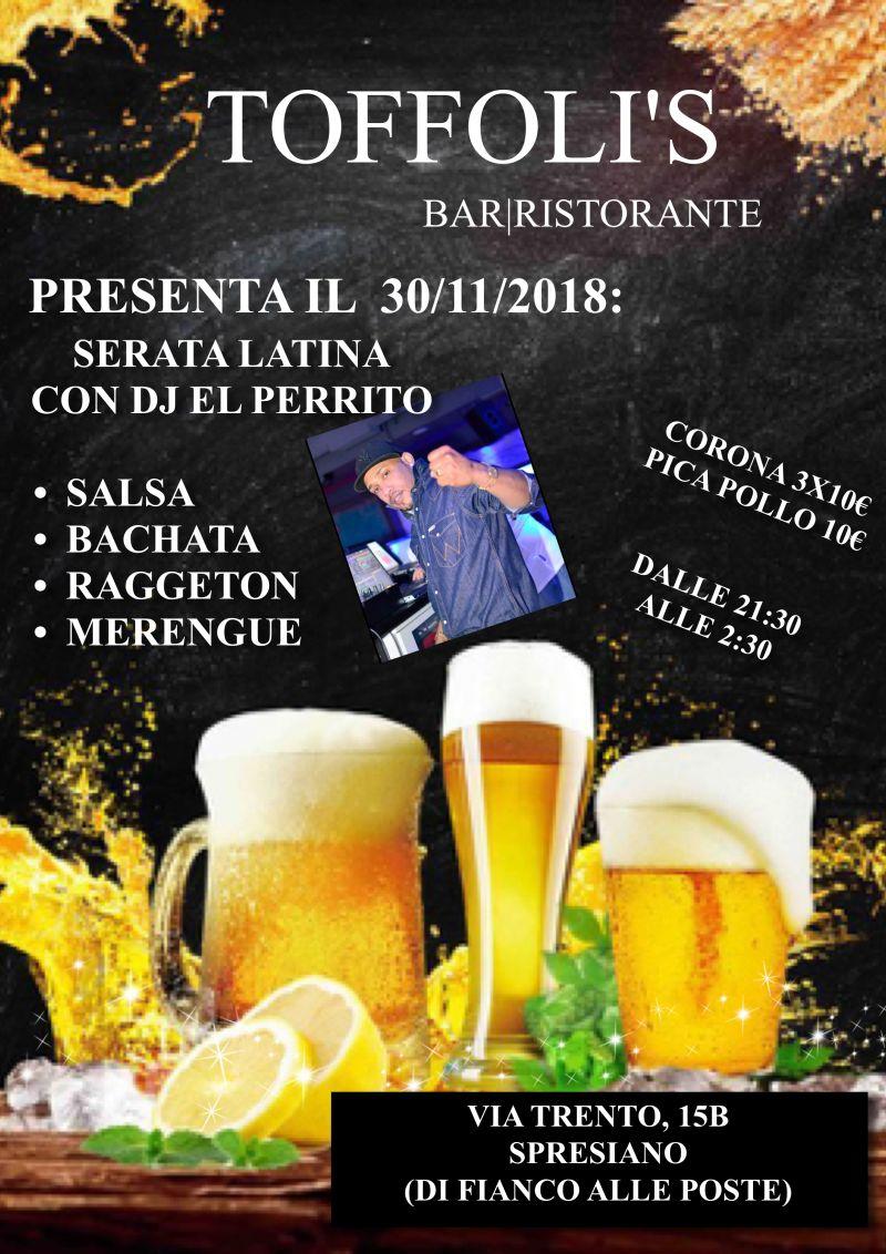 SERATA LATINA 30/11/2018 CON DJ LATINO E PIATTO DI PICA POLLO 10?