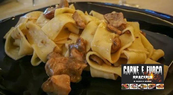 Carne e Fuoco Braceria offerta primi piatti di pasta - occasione pasta ristorante Napoli