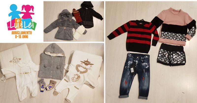 PER LUI E LEI Offerta vendita abbigliamento per neonati e ragazzi Salerno