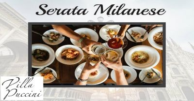 villa puccini offerta menu milanese occasione ristorante cena a tema