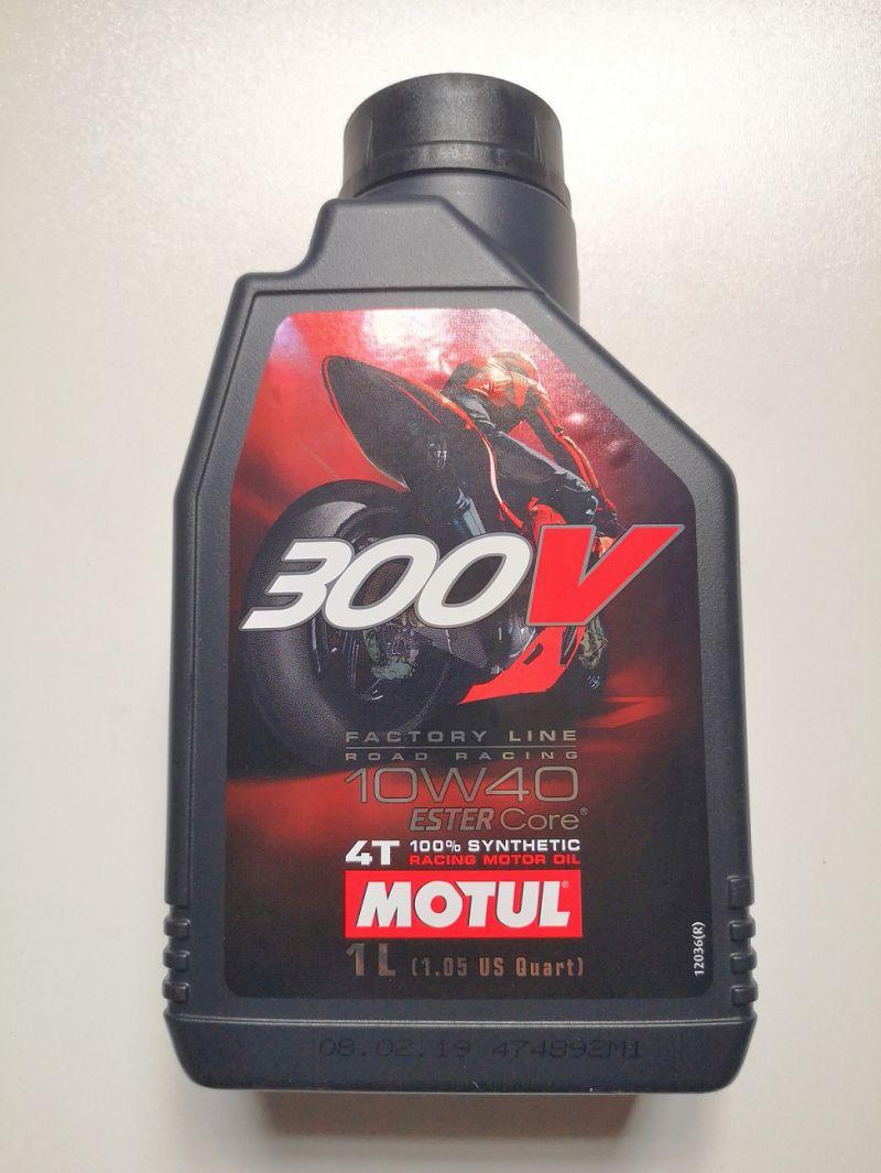 OLIO MOTORE MOTUL 300V ROAD RACING per MOTO 4 TEMPI - 100% SINTETICO  SAE 10W40