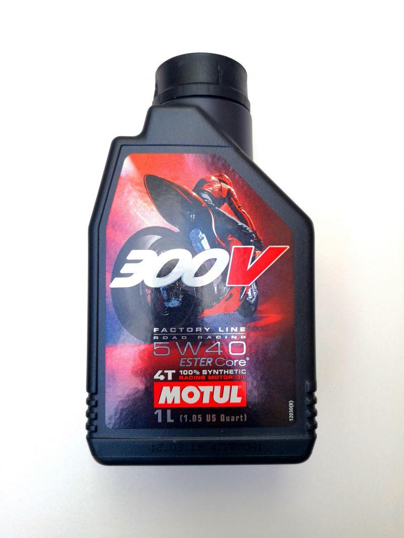 OLIO MOTORE MOTUL 300V ROAD RACING per MOTO 4 TEMPI - 100% SINTETICO  SAE 5W40