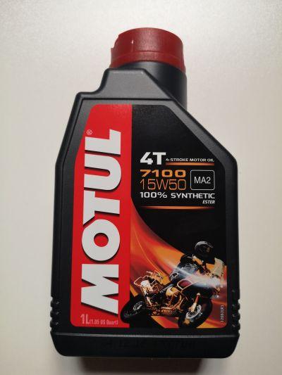 olio motore motul 7100 per moto e scooter 4 tempi 100 sintetico sae 15w50