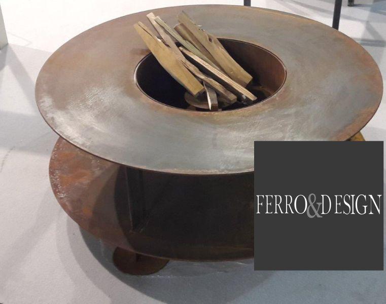 FBB FERRO & DESIGN offerta bracieri da terrazzo in ferro - promozione bracieri da giardino