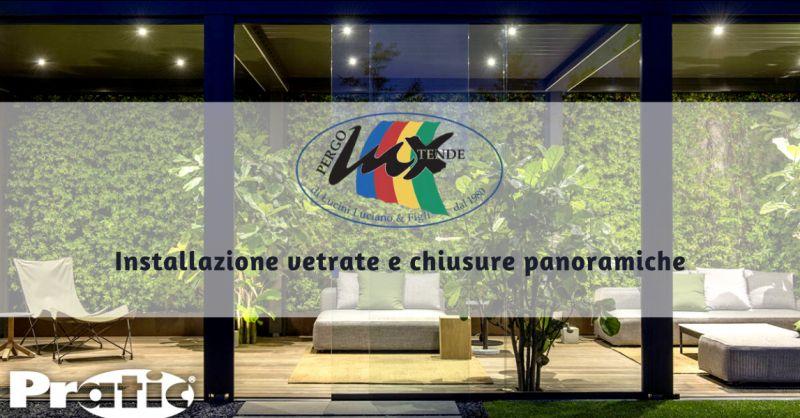 PERGOLUX Offerta vetrate panoramiche pomezia - occasione installazione chiusure ermetiche roma